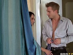 Come an enjoy this awesome free porn video provided by Brazzers Network where you can see how the busty brunette milf Ava Addams enjoys a hot fuck in the shower by Bill Bailey and Keiran Lee.