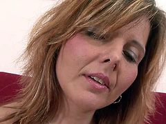 Slutty and attractive light haired mature with nice ass gets drilled hard