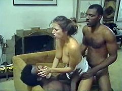 Brutal black dudes invaded dumpy pussy and anus of that lusty white bitch