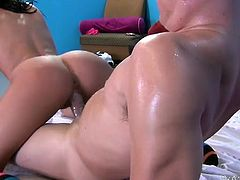 Two sex appeal bootyful babes ride dick and strapon simultaneously. Don't skip exciting group sex video produced by My XXX Pass porn site.