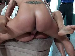 Have fun with this hardcore group sex scene where these sexy ladies are fucked silly by this guys as their moans make you pop a boner.