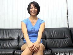 A sexy, Japanese pornstar with petite tits and a hot ass enjoys a mind-blowing doggy style fuck. Hear her scream with pleasure now!