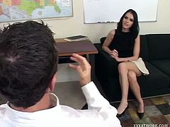 Jennifer is a Euro slut, but she loves to stay in the USA an needed some professional help. Watch as she starts to blow cock before taking it deep in her cunt.