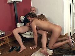 After she gives her lover a nice blowjob, she wants him to return the favor and go down on her. Horny dude sucks her cock with unrestrained passion. Then she rides his stiff cock in reverse cowgirl position.