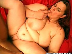 Nasty obese strumpet rides dick in a reverse cowgirl pose and blows it well. Then she gets her loose twat hammered doggystyle and mish. You can also watch how buddy punishes her in a sideways pose.