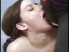 Pregnant bitch guy cums on face