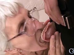 Garanny bring you a hell of a free porn video where you can see how this hairy granny sucks and gets fucked by a young stud into a breathtakingly intense orgasm.