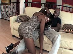 Hustler brings you a hell of a free porn video where you can see how the vicious ebony slut Coffee Brown gets banged very hard into a breathtakingly intense orgasm.
