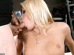 Blonde honey Ivana Sugar makes dudes boner harder before getting her ass humped