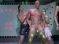 Dirty bitches get horny and lustful at the steamy sex party