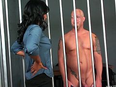 Make sure you have a look at this hardcore scene where the horny Isis Love is fucked by a prisoner as she plays a sexy attorney.