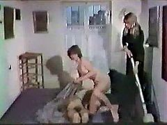Black haired voracious wench with big saggy tits gave nice BJ to her stud and rode that hard cock face to face after that. Look at that steamy sex in The Classic Porn sex clip!