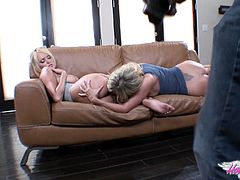 Get ready to bust a serious nut with this heart stopping lesbian scene where these gorgeous blondes have an amazing lesbian scene.
