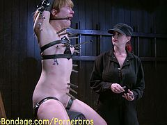 Amateur babe receives hardcore punishment in this raw BDSM video. Naughty mistress punish her tits, her pussy and her whole body till she asks for mercy!