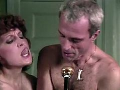 Sensual retro brunette gets her pussy finger fucked and gives eager blowjob. Dude puts her assets together and fucks her cleavage. Go for a steamy The Classic Porn video for free.