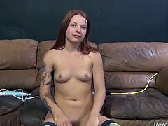 Sandy haired tattooed bitch with small tits ate some cookies and set to please her pussy with sex toy. Later her stud attacked her hot pussy in sideways pose. Enjoy that dirty bitch in My XXX Pass porn clip!
