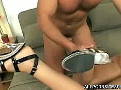 Gorgeous pornstar Susie Diamond can do everything when it comes to hardcore. This time she is giving some sensual footjob and letting her tight ass got screwed up by a hungry dick.