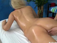 Make sure you don't miss the petite blonde babe Vanessa Cage getting ready for some amazing action with her favorite masseur. Her pussy is oily and ready for fingering!