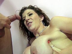 The sexy horny babes Sara Jay and Taylor White get cum on their yummy tits after a hot and nasty threesome with Porno Dan.