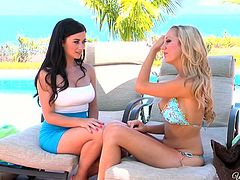 Amazing lesbian video with hot gals like Brett Rossi & Taylor Vixen