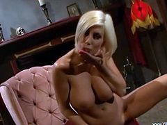 Take a look at this hot solo scene where you'll see the smoking hot Puma Swede masturbating with a dildo as you check her big tits and great ass.