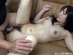Hot Japanese chick shows her hairy twat to a guy and lets him drill it in the missionary position. In the end, she gets facialed and enjoys it a lot.