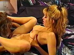 Take a look at this hardcore vintage video where the slutty blonde Sid Deuce ends up with her mouth filled by this guy's cum after being fucked.