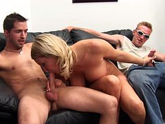 Make sure you check out this amazing hardcore scene where the slutty blonde Christina Skye ends up covered by semen after being fucked by two guys in a threesome.