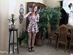 Dee Dee Lynn is a sweet natural redhead who gives a great blowjob that ends with a cumshot that lands directly in her mouth. She is there to swallow, so she gets every drop.
