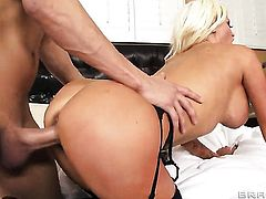 Xander Corvus attacks incredibly sexy Nikita Von JamesS cunt with his love torpedo