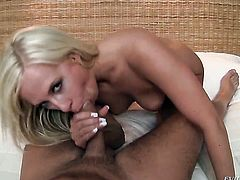 Carla Cox puts David Perrys schlong in her mouth and sucks repeatedly before butthole fucking