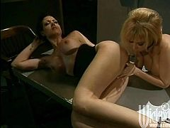 Have fun with this hot scene where these horny ladies make you pop a boner as they please each other's wet pussies.