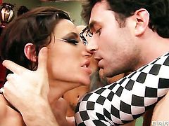 James Deen fucks With giant tits in her mouth as hard as possible in steamy oral action