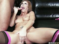 Brooklyn Lee asks Keiran Lee to stick his meaty cock in her mouth