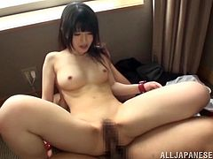 The sassy Japanese porn star gets her pussy banged as hard as never before. The Chizuru Sakura enjoy cowgirl position as it makes her cum like never before.
