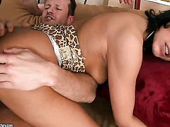 Tera Joy gets mouth fucked ferociously by hot guy