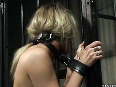 Blonde gets impaled on ram rod by hot man