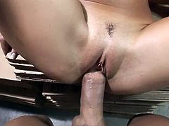 Gorgeous lady with puffy tits showing her amazing body and sucking and masterbating until she gets cum reward in a hot pov sexual action.You will love her POV cock riding talent.