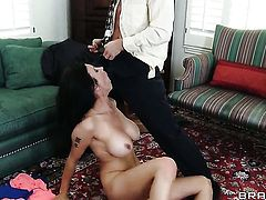 Bill Bailey is one hard-dicked stud who loves oral sex with Shay Sights with giant jugs