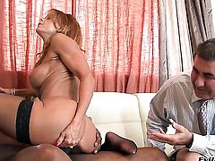 Janet Mason is just in need of sexual pleasure and gets some in sex action with Sean Michaels