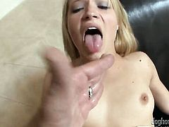 Mr. Pete pops out his man meat to fuck Alyssa Branch in the bottom before cock sucking