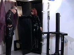 Girls In Control brings you a hell of a free porn video where you can see how this evil master tortures a hot redhead slave girl while assuming very interesting poses.