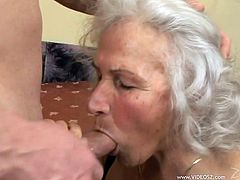 Norma is one extremely excited old slut and she just loves getting all of her holes filled with dicks. She spreads her legs for two big dicks and enjoys being drilled.