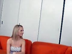 Gorgeous young blonde Naomi gets her first time, live on camera for 18 Virgin Sex