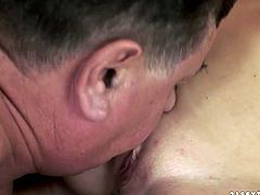 Insatiable blondie gives her kinky lover a great blowjob