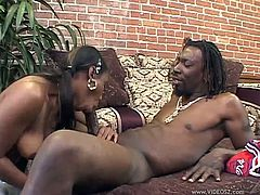 Press play to watch this ebony babe in pigtails, with natural boobs wearing a cheerleader uniform, while she goes hardcore in a reality video.