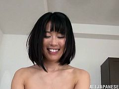 Check out Sayuki Kanno's sexy body in this hardcore POV where she plays with her bush before riding this guy's hard cock.