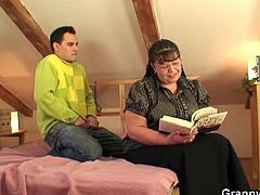 Granny Bet brings you a hell of a free porn video where you can see how this fat brunette mature sucks and rides her man's cock into heaven while assuming hot poses.