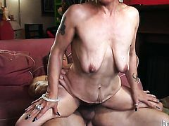 Miss Nina Swiss gets orally fucked by Jay Huntington s beefy mouth stretcher