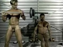 Witness this amateur retro video where a black dude, with a nice ass and strong arms, while he does the 69 position before going hardcore.